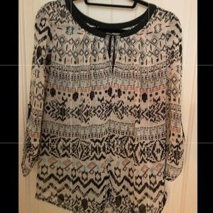 Signature Studio Tribal Print Blouse